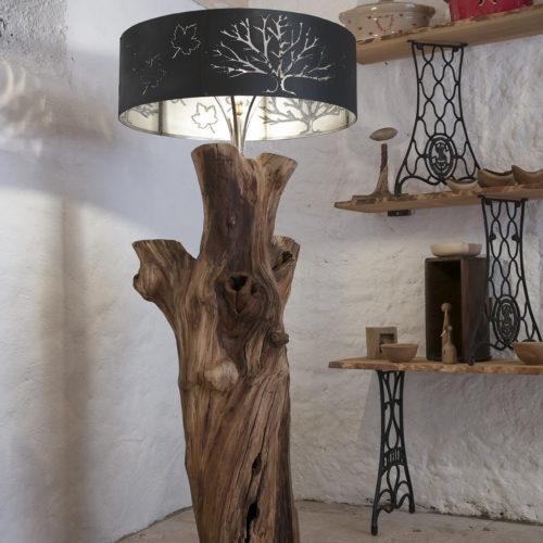 Lampe décorative en bois